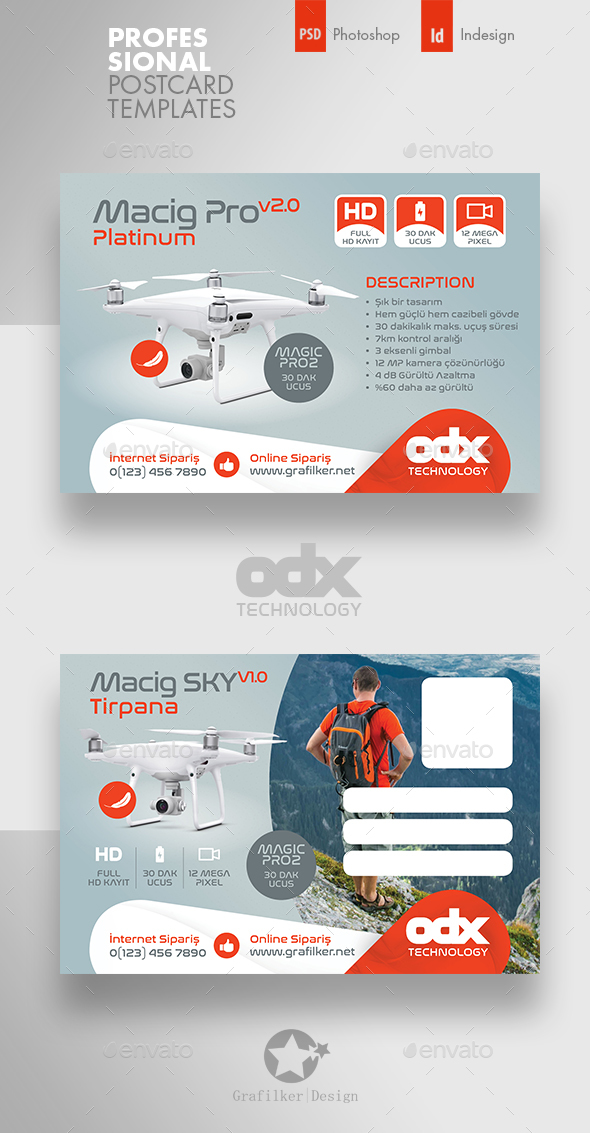 Drone Technology Postcard Templates - Cards & Invites Print Templates