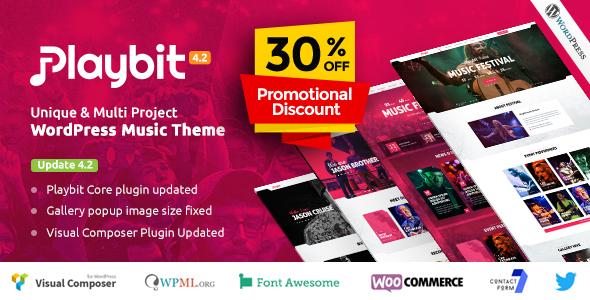 Image of Playbit - Music Oriented WordPress Theme