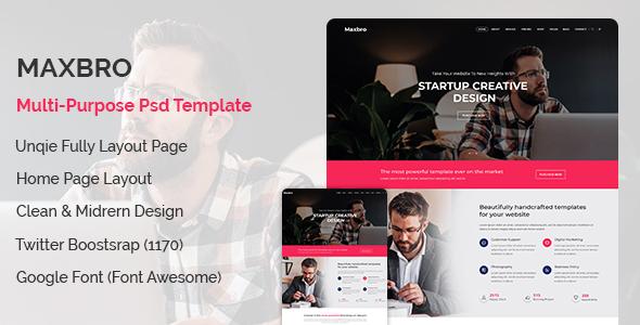 Maxbro-Creative PSD Template