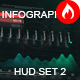 infographics HUD set 2 - VideoHive Item for Sale