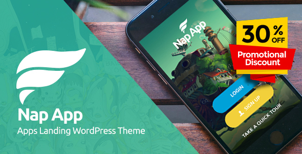 NapApp - WordPress App Landing Page - Software Technology