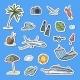 Vector Hand Drawn Summer Travel Elements Stickers