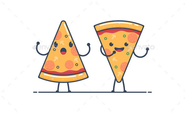 Pizza Characters - Food Objects