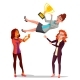 Winner Business Woman Vector. Throwing Colleague - GraphicRiver Item for Sale