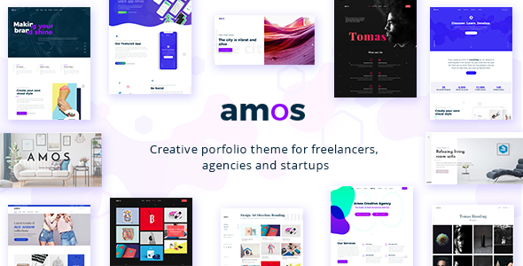 Amos - Creative WordPress Theme for Agencies & Freelancers