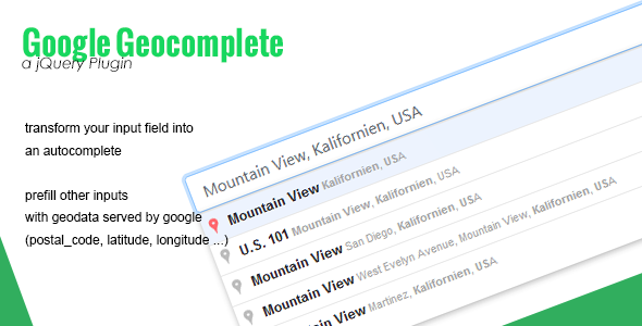 Google Geocomplete - CodeCanyon Item for Sale