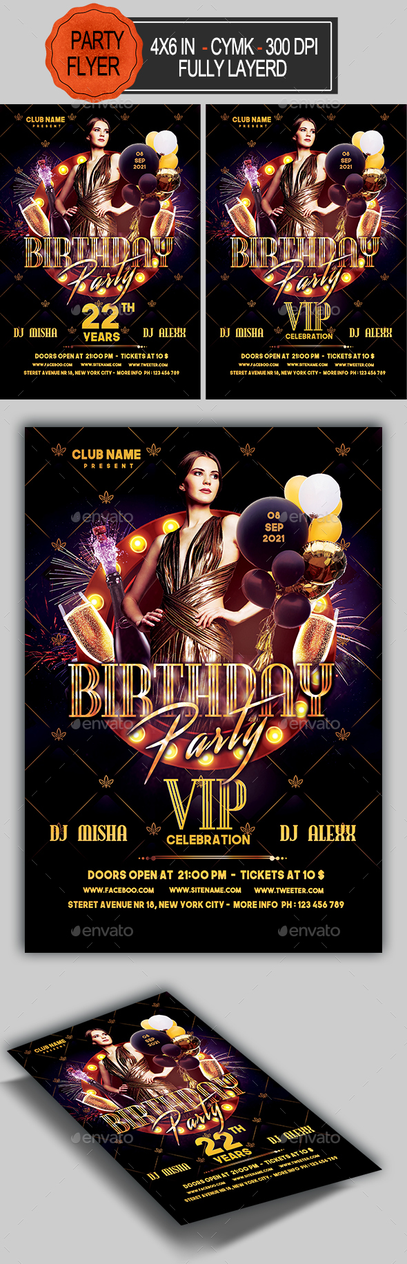 Birthday Flyer - Clubs & Parties Events