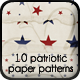 10 Stars & Stripes Paper Patterns - GraphicRiver Item for Sale