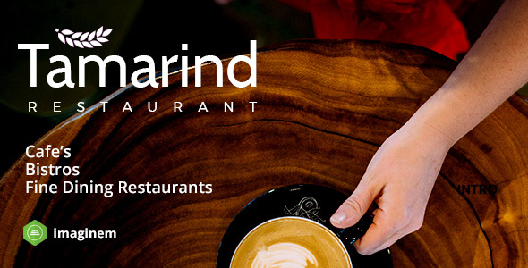 Tamarind Restaurant Theme for WordPress - Restaurants & Cafes Entertainment