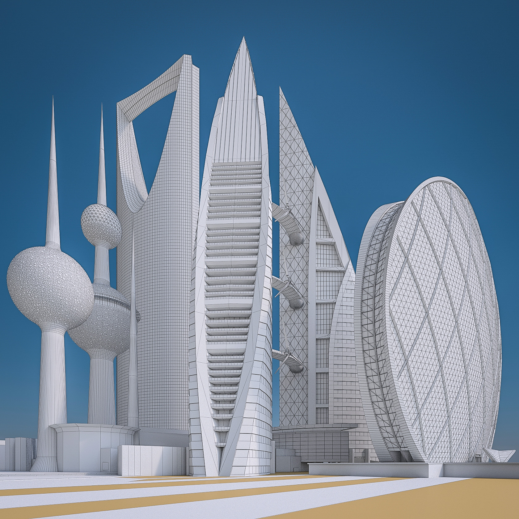 Gulf Buildings Set - 4 Pack
