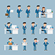 Corporate Man Character Pack - 21 Actions - VideoHive Item for Sale