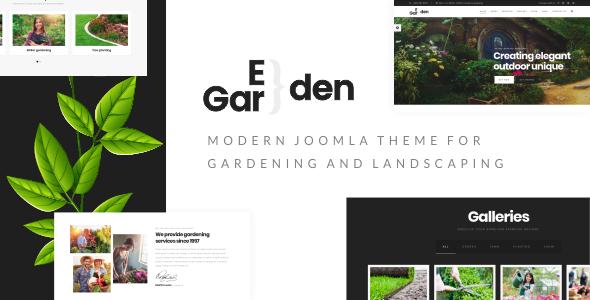 Image of Eden Garden - Gardening, Lawn & Landscaping Joomla Template