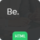 Be - Startup Business HTML Template - ThemeForest Item for Sale