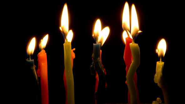 Happy Birthday Candles Stock Footage