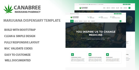 Canabree - Marijuana Dispensary HTML Template