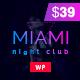 Miami | Disco Night Club WordPress - ThemeForest Item for Sale