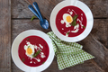 Red beet soup with creme fraiche - PhotoDune Item for Sale