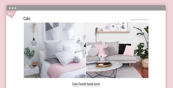 Calm Premium Tumblr Theme - Blog Tumblr