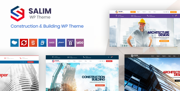 Image of Salim - Construction and Building WordPress Theme