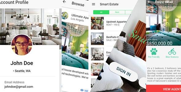 Smart Estate - Ionic 2/3 Real Estate App Template