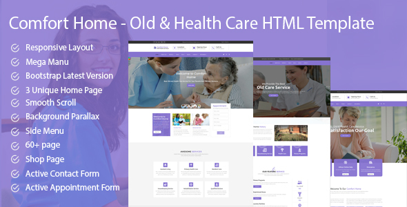 Comfort Home – Old & Health Care HTML Template
