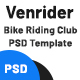 VenRider - Bike Rider Club PSD Template - ThemeForest Item for Sale