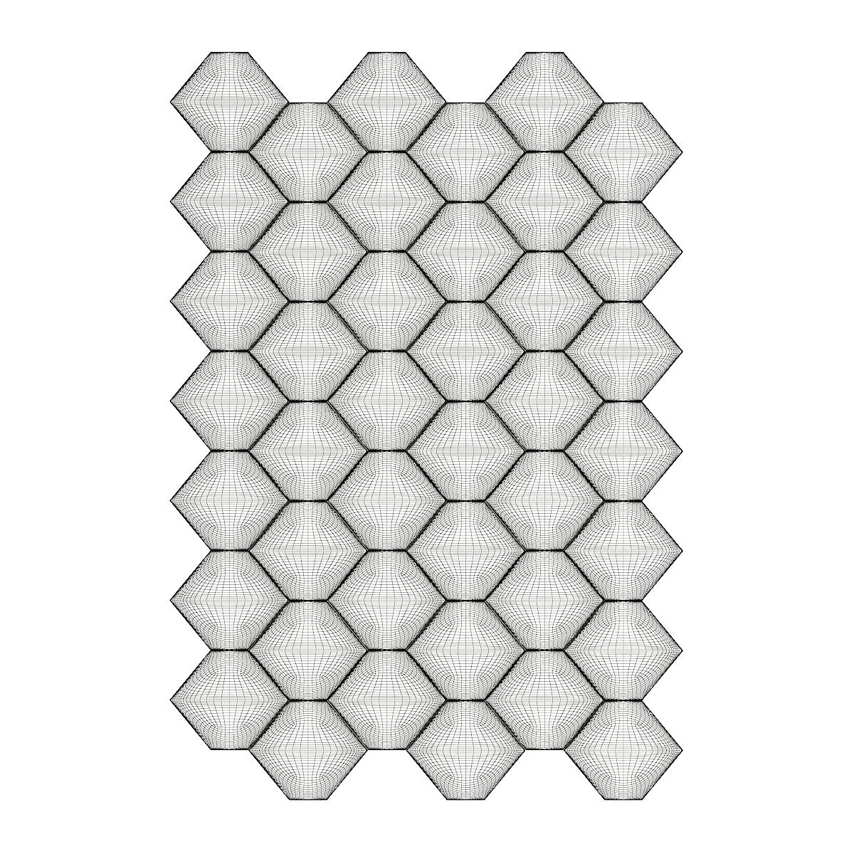 Hexagonal White Wall Panel 3D Model