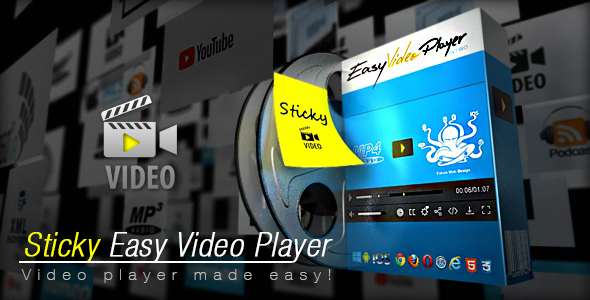 Sticky Easy Video Player - CodeCanyon Item for Sale