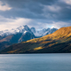 Landscape view of Glenorchy wharf, lake and moutains, New Zealand - PhotoDune Item for Sale