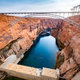 Scenic view of the bridge over Glen canyon dam and power plant, USA - PhotoDune Item for Sale