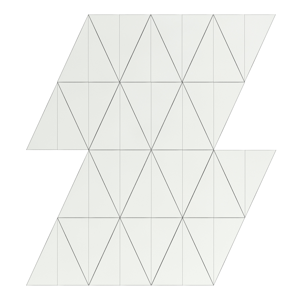Metal Triangle Tiles 3D Model