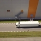 White Truck Riding Through Logistic Park - VideoHive Item for Sale