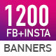 Facebook & Instagram Ad Banners - 1200 Files - Updated!!! - GraphicRiver Item for Sale