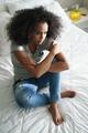 Depressed Hispanic Girl With Sad Emotions And Feelings - PhotoDune Item for Sale