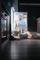 Black Woman Awake For Heat Wave Sleeping in Fridge - PhotoDune Item for Sale