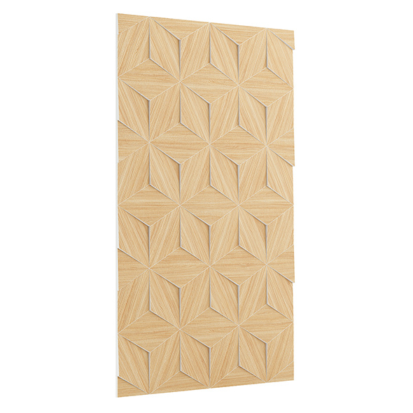 Wooden Decorative Wall Panel 3D Model - 3DOcean Item for Sale