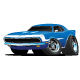Classic Sixties Style American Muscle Car Cartoon - GraphicRiver Item for Sale