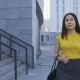 Asian Business Lady Walking To Job in the Morning - VideoHive Item for Sale
