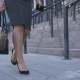Low Section of Business Woman Walking To Job - VideoHive Item for Sale