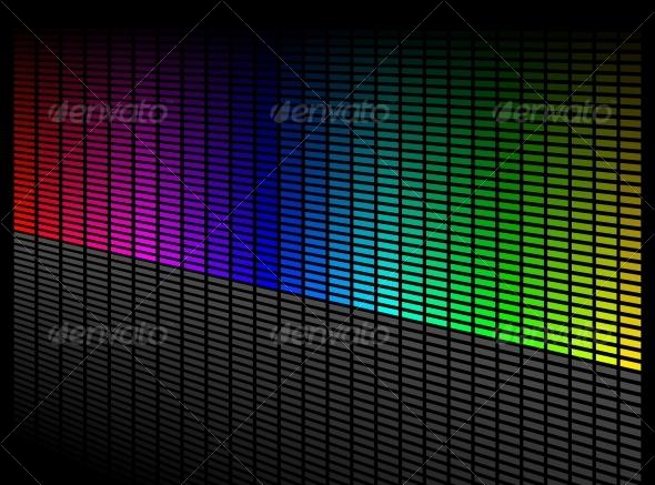 Vector digital equalizer - Backgrounds Decorative