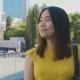 Happy Asian Business Girl Smiling While Walking - VideoHive Item for Sale