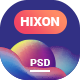 Hixon - Personal Portfolio Landing Page PSD Template - ThemeForest Item for Sale