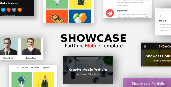 Showcase - Portfolio Mobile Template - Mobile Site Templates