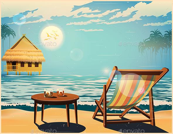 Deckchair at Sunset - Seasons/Holidays Conceptual
