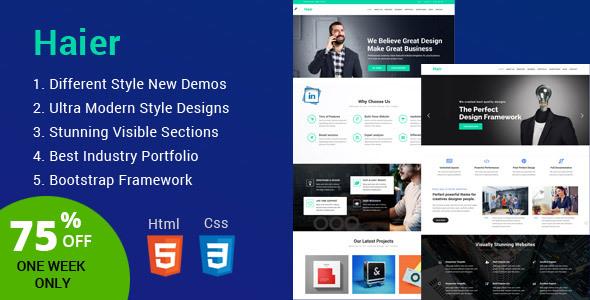Haier   The Multipurpose HTML Template