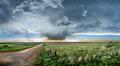 Tornadic Supercell over Tornado Alley at sunset - PhotoDune Item for Sale