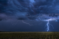 Lightning storm over field in Oklahoma - PhotoDune Item for Sale