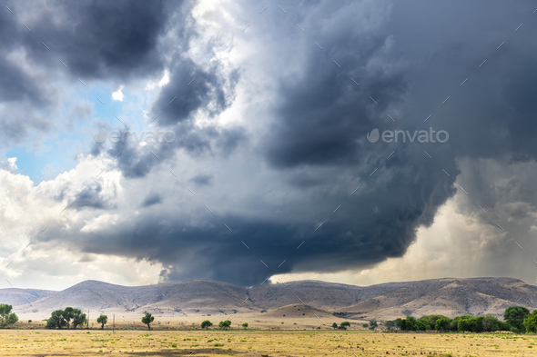 Tornado Supercell in Oklahoma - Stock Photo - Images