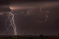 Large lightning strike at dusk on Tornado Alley - PhotoDune Item for Sale