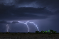 Large lightning strike at night on Tornado Alley - PhotoDune Item for Sale